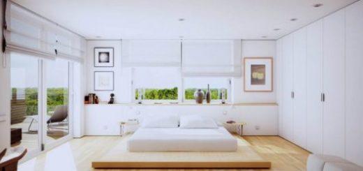 estilo de cama baixa minimalista