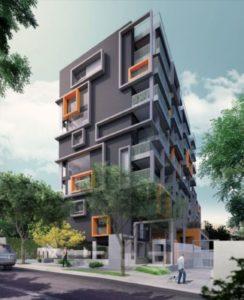 fachadas de prédios estilo cubista