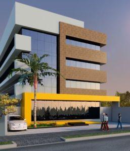 fachadas de prédios com 4 andares espelhada