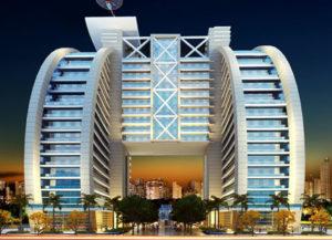 fachadas de prédios comerciais de luxo
