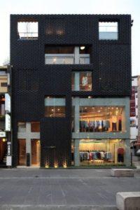 fachadas de prédios comerciais diferentes