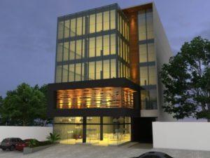 fachadas de prédios iluminação