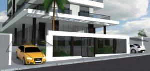 fachadas de prédios com portaria de vidro