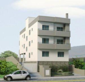 fachadas de prédios com 3 andares