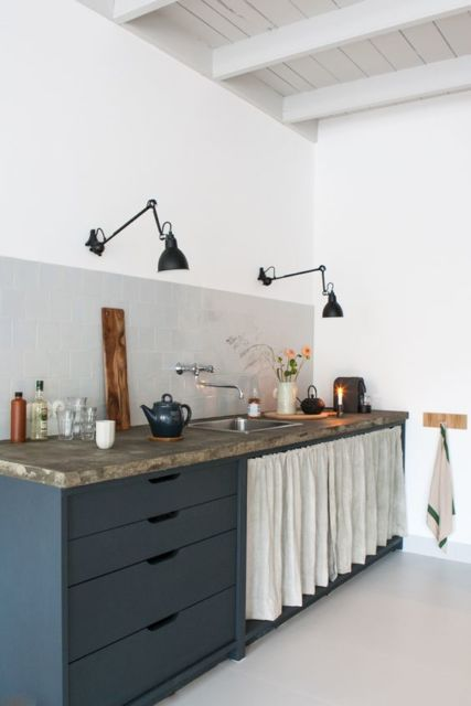 forro branco cozinha