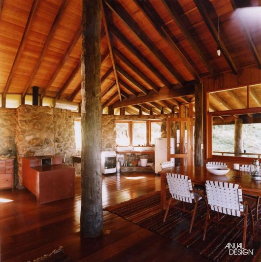 forro e piso de madeira