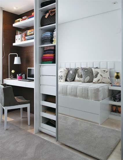 Guarda roupa planejado embutido dicas e projetos - Como montar un armario empotrado ...