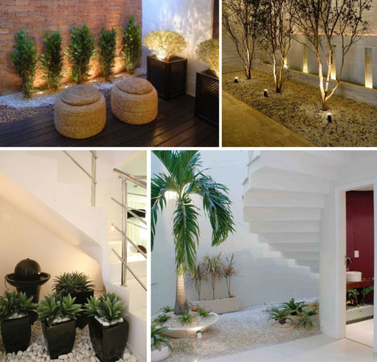 São vários modelos de jardim de inverno na sala para criar