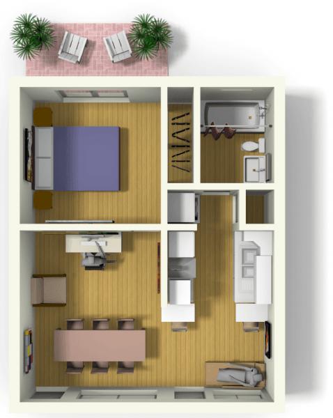 kitnet-apartamento-pequeno