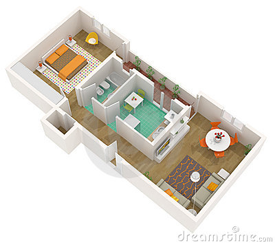 Plantas De Kitnet on Narrow 3 Bedroom Townhouse Plan
