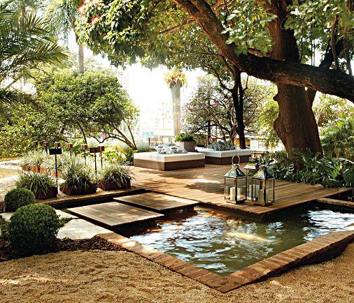 Lago artificial 49 fotos de projetos e passo a passo for Garden decking inspiration