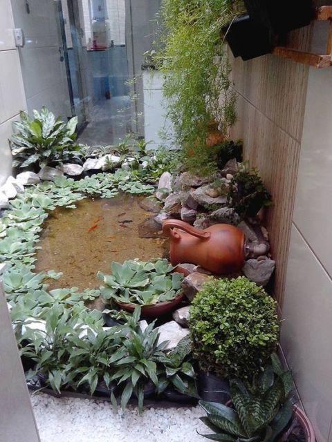 Fotos De Lago Artificial Decoração De Jardim Pictures to pin on