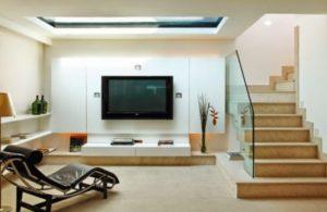foto de lustre para escada