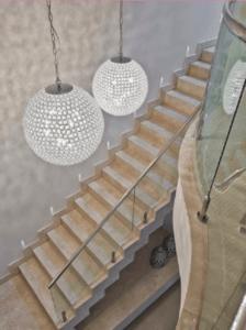 lustre para escada modelo globo