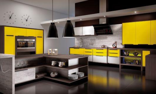 móveis laqueados na cozinha armário