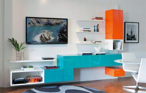 móveis laqueados na sala