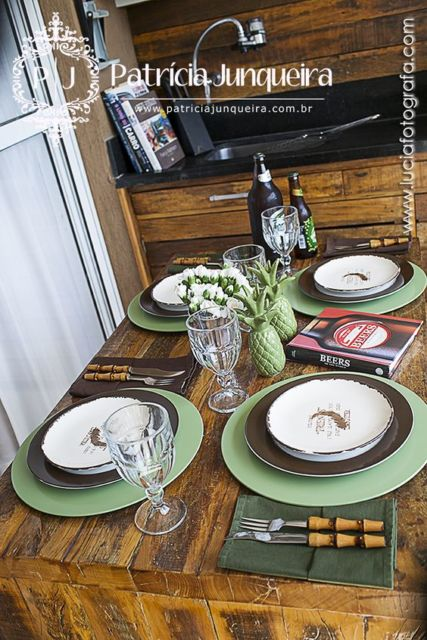 mesa posta churrasco carnes