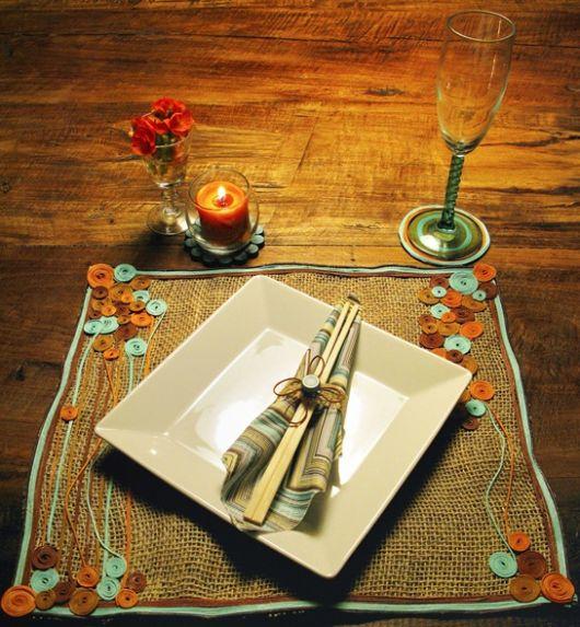 mesa posta prato quadrado
