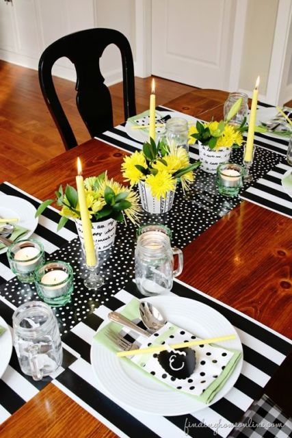 mesa posta simples centro de mesa