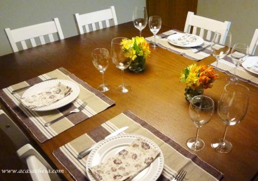 mesa posta simples jantar