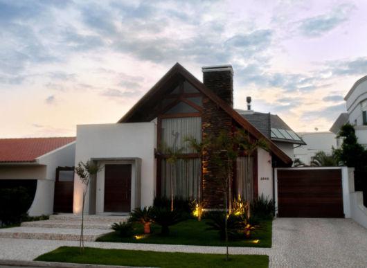 Modelos de chal s 41 projetos e plantas gr tis for Casa moderna rustica