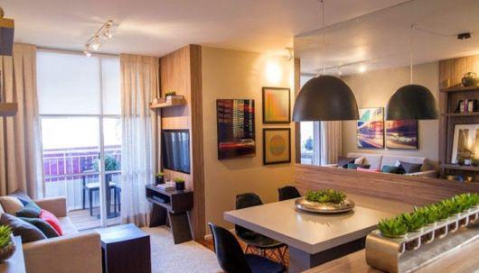 projeto sala de TV e sala de jantar