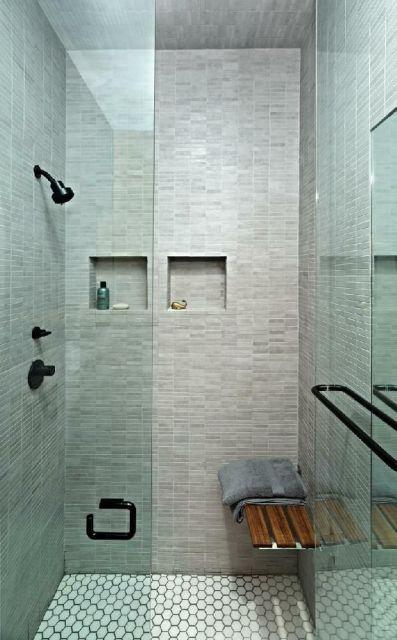 cerâmica que imita pedra banheiro