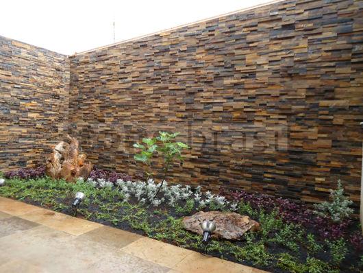 muro com jardim