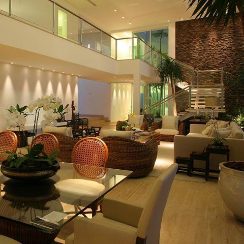 salas integradas com escada