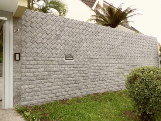 muro pedra cinza