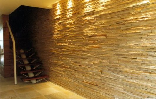 parede escada pedra filete