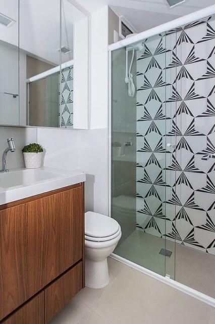 azulejo estampado banheiro