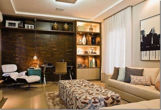 sala com home office