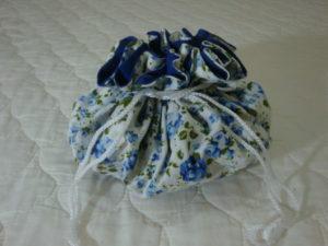 porta joias de tecido floral