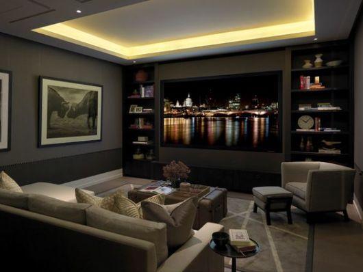 Projeto de ilumina o o que luminot cnico dicas e projetos - Sala home theatre ...