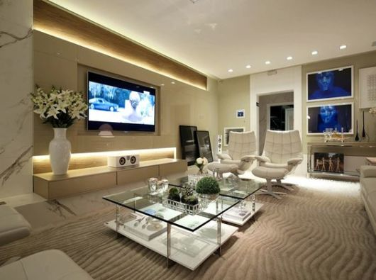 Iluminacao Para Sala De Estar E Tv ~ Projeto de iluminação o que é luminotécnico, dicas e projetos