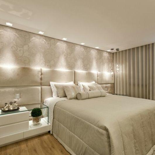 decoração bege quarto de casal