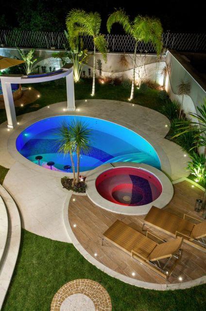 iluminação área piscina