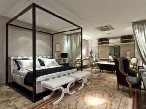 quarto com banheira integrada estilo classico