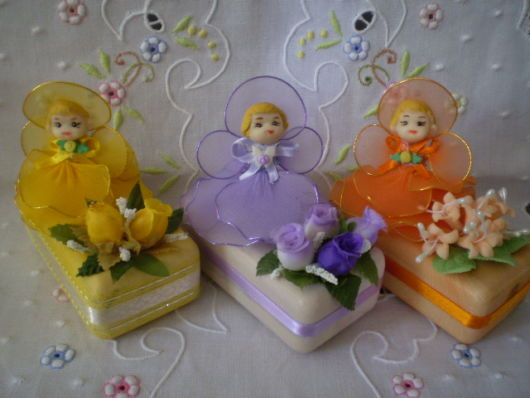 sabonetes decorados bonequinhas