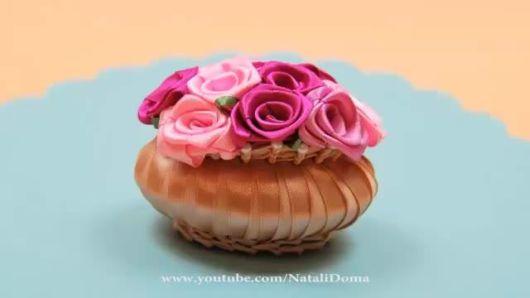 sabonetes decorados cetim delicado
