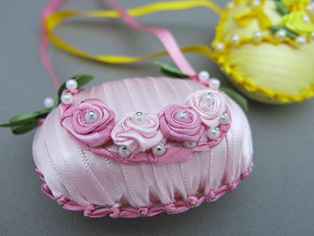 sabonetes decorados cetim rosa