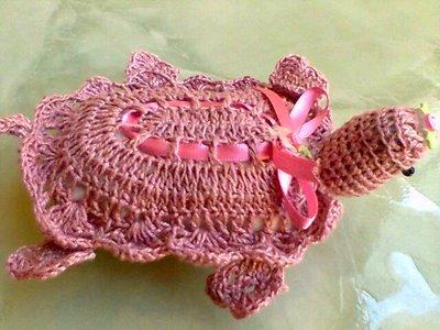 sabonetes decorados crochê tartaruga