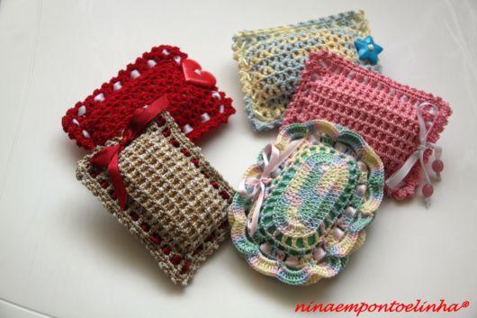 sabonetes decorados crochê