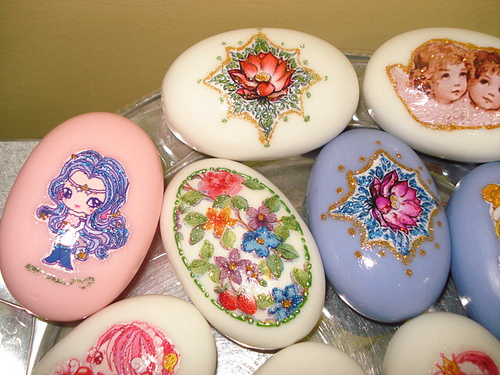 sabonetes decorados diversos decoupage