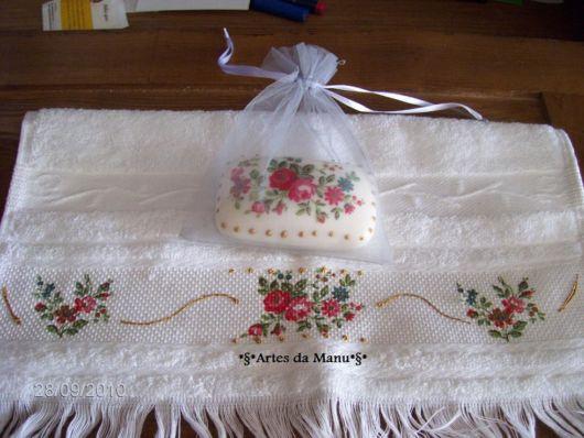 sabonetes decorados em decoupage flor