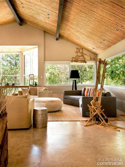 sala decorada bambu