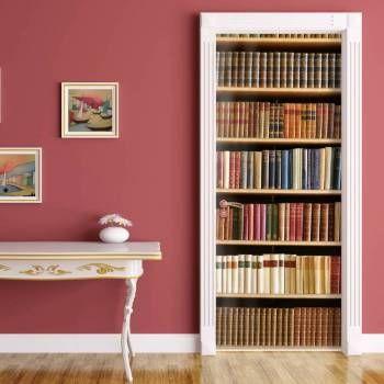 Porta decorada livros