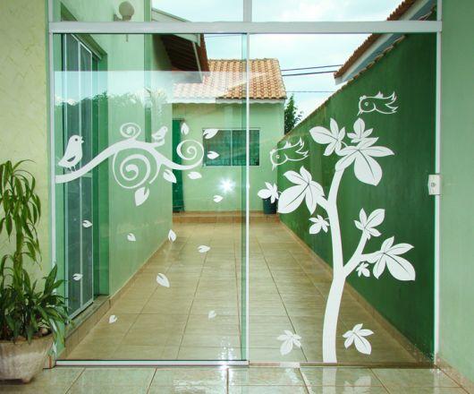Porta de vidro externa