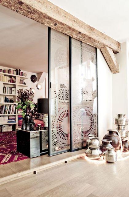 Porta de vidro sala com varanda